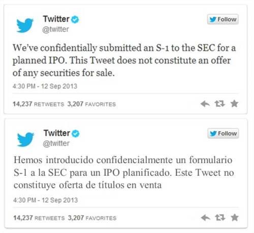 tweet IPO